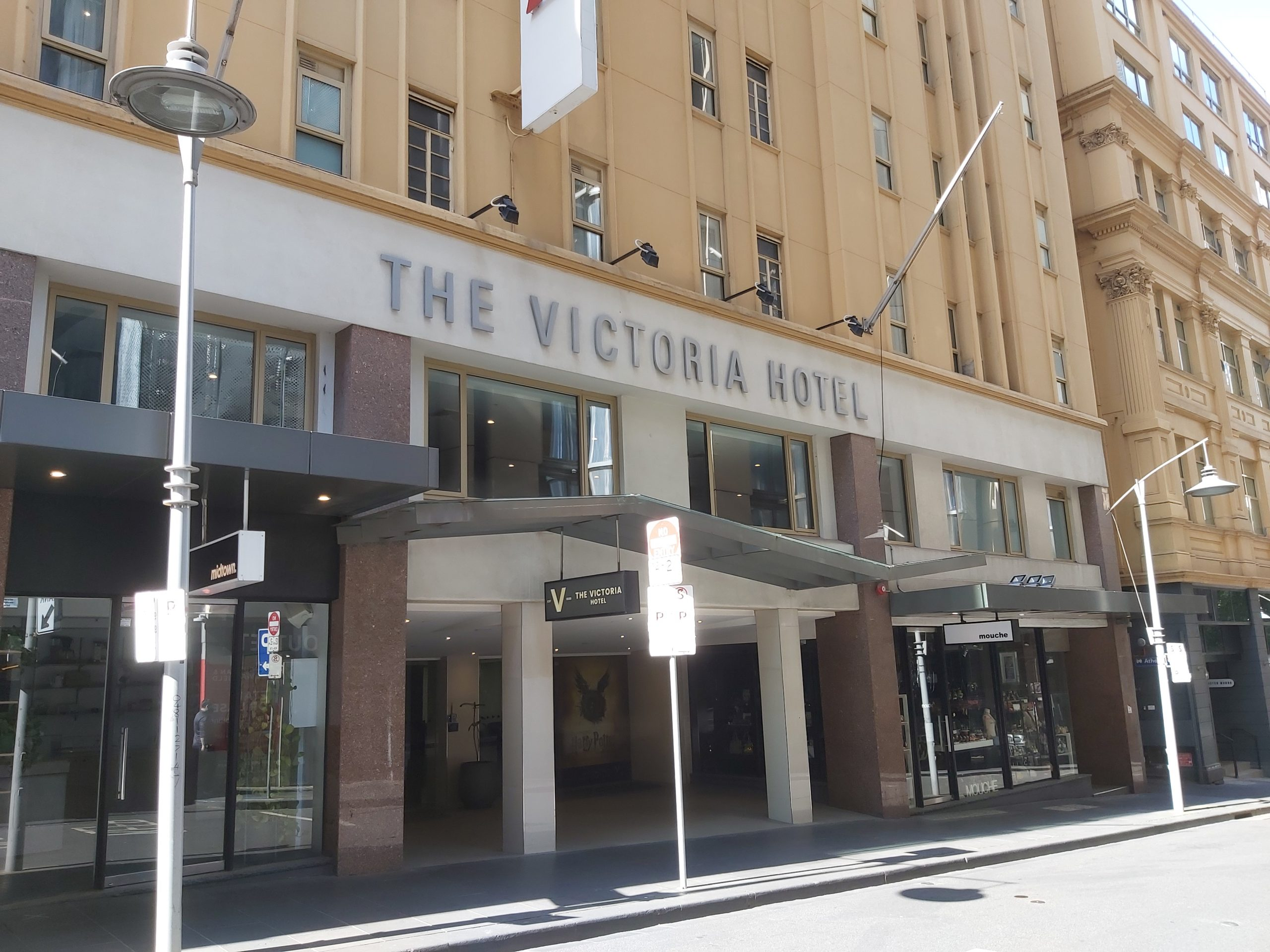 the victoria hotel little collins st painting