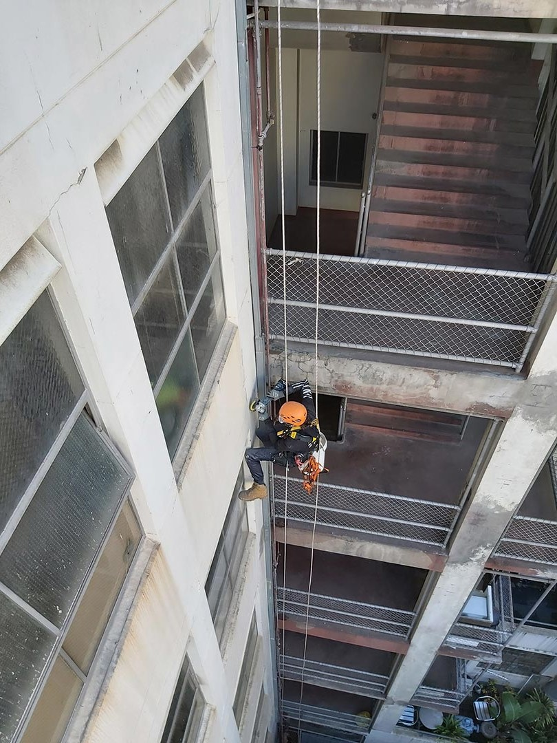 the best concrete repairs service rope access inspection century building