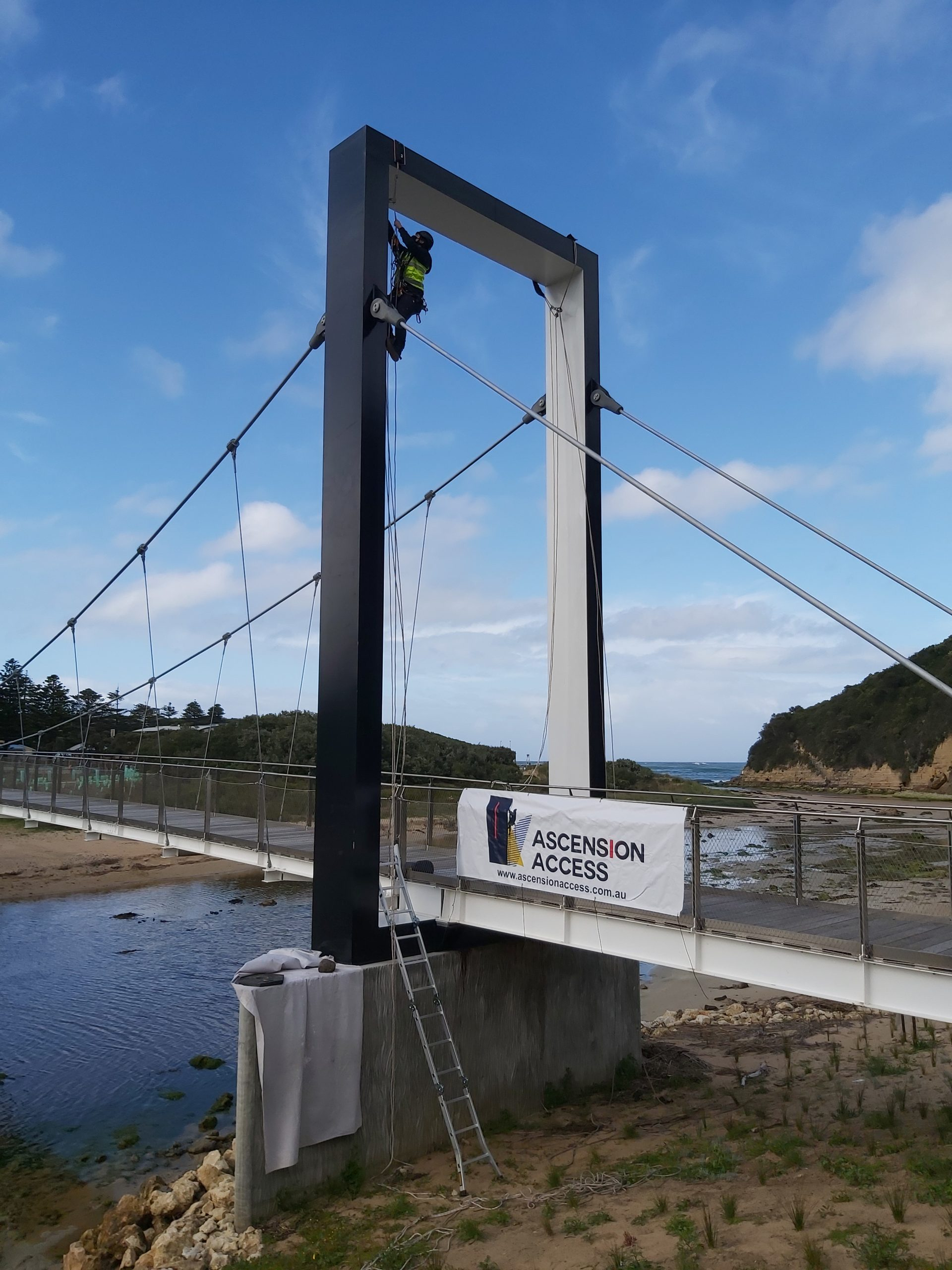 painting port campbell pedestrian bridge