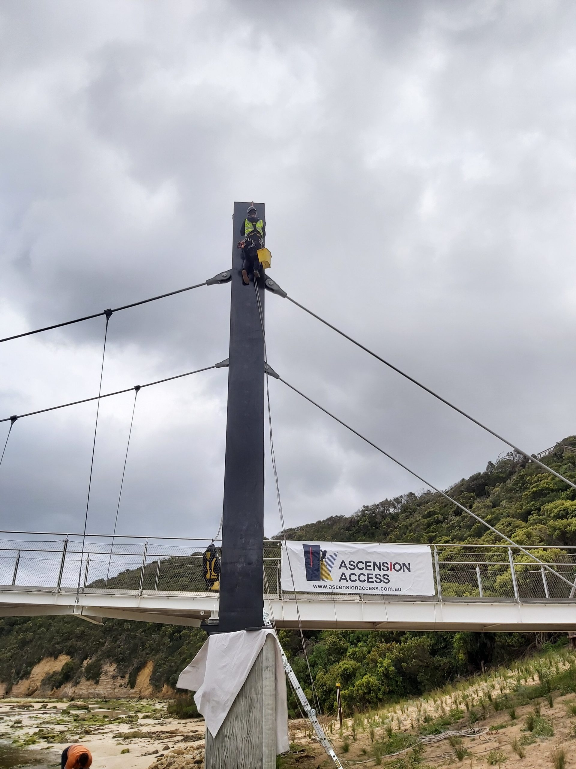 port campbell pedestrian bridge painting service